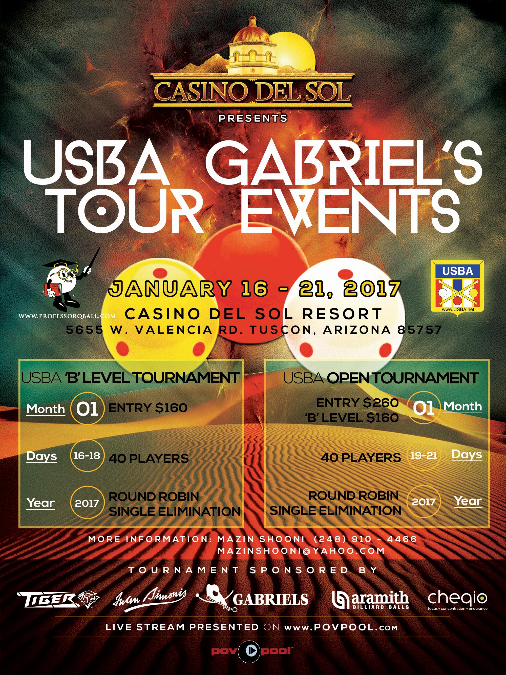 POV POOL USBA Gabriels 2017 Tour Event