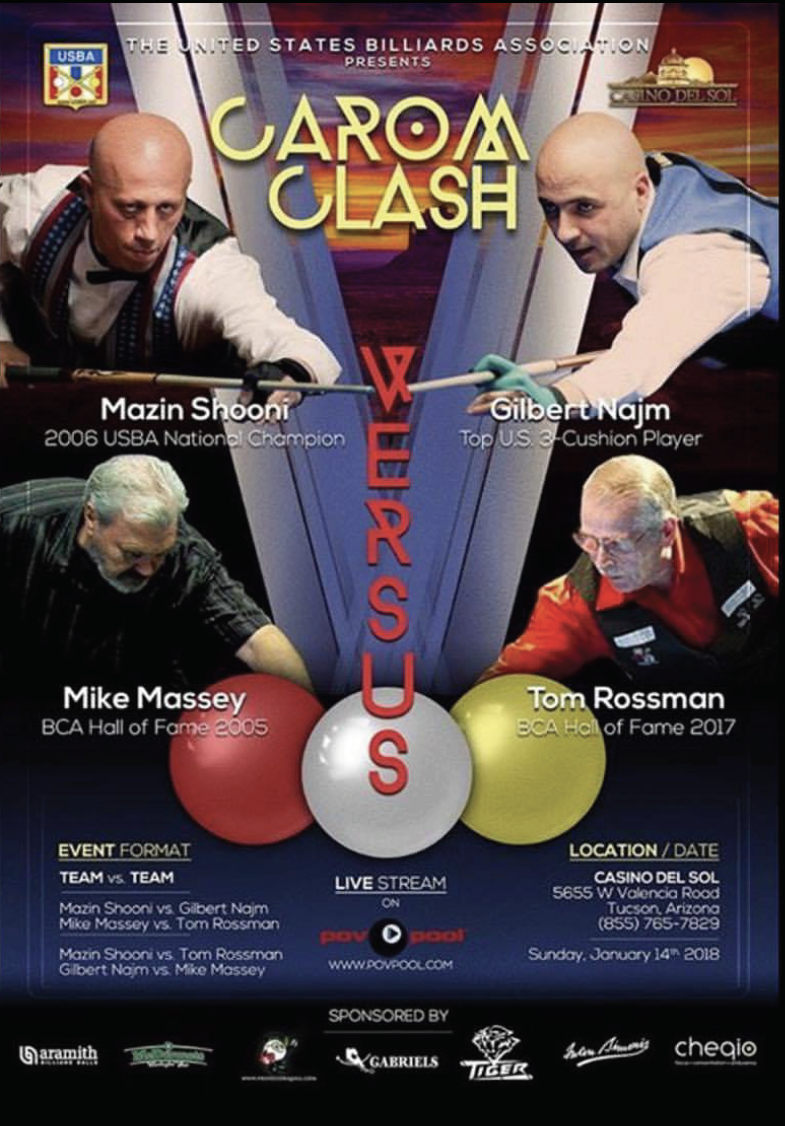 USBA's 2018 Exclusive 'B' Tournament & Carom CLASH!